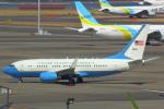 ハンバーグ師匠さんが、羽田空港で撮影したアメリカ空軍 C-40B BBJ (737-7DM)の航空フォト(写真)