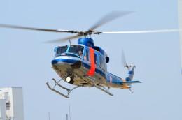 ヘリオスさんが、東京ヘリポートで撮影した警視庁 412EPの航空フォト(写真)