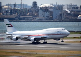 mojioさんが、羽田空港で撮影したドバイ・ロイヤル・エア・ウィング 747-422の航空フォト(写真)