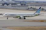 いっとくさんが、関西国際空港で撮影したエアプサン A321-131の航空フォト(写真)
