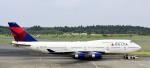 kamerajiijiさんが、成田国際空港で撮影したデルタ航空 747-451の航空フォト(写真)