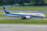 Tomo-Papaさんが、シンガポール・チャンギ国際空港で撮影した全日空 787-9の航空フォト(写真)
