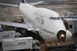 たま3さんが、成田国際空港で撮影したデルタ航空 747-451の航空フォト(写真)