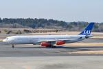 panchiさんが、成田国際空港で撮影したスカンジナビア航空 A340-313Xの航空フォト(写真)