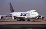 ハミングバードさんが、名古屋飛行場で撮影したアトラス航空 747-230B(SF)の航空フォト(写真)