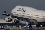 中トロ・バジーナさんが、成田国際空港で撮影したユナイテッド航空 747-422の航空フォト(写真)