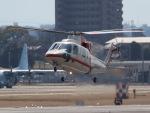 丸めがねさんが、名古屋飛行場で撮影した朝日航洋 S-76Cの航空フォト(写真)