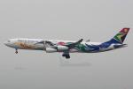 Willieさんが、香港国際空港で撮影した南アフリカ航空 A340-313Xの航空フォト(写真)
