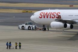 ライダーさんが、成田国際空港で撮影したスイスインターナショナルエアラインズ A340-313Xの航空フォト(写真)