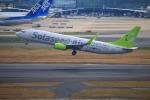 KAMIYA JASDFさんが、羽田空港で撮影したソラシド エア 737-81Dの航空フォト(写真)
