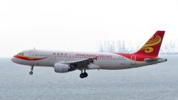誘喜さんが、香港国際空港で撮影した香港航空 A320-214の航空フォト(写真)