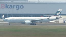 誘喜さんが、クアラルンプール国際空港で撮影したキャセイパシフィック航空 A330-342Xの航空フォト(写真)