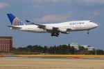tomoMTさんが、成田国際空港で撮影したユナイテッド航空 747-422の航空フォト(写真)