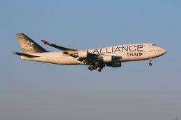 tomoMTさんが、成田国際空港で撮影したタイ国際航空 747-4D7の航空フォト(写真)