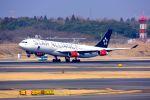 まいけるさんが、成田国際空港で撮影したスカンジナビア航空 A340-313Xの航空フォト(写真)