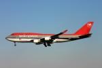 にしやんさんが、成田国際空港で撮影したノースウエスト航空 747-451の航空フォト(写真)