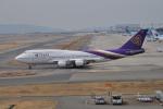 うすさんが、関西国際空港で撮影したタイ国際航空 747-4D7の航空フォト(写真)