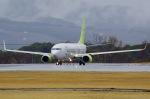bravotaisei787さんが、熊本空港で撮影したソラシド エア 737-81Dの航空フォト(写真)