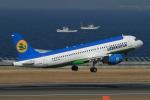 ウッディーさんが、中部国際空港で撮影したウズベキスタン航空 A320-214の航空フォト(写真)