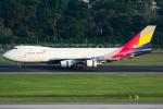 Tomo-Papaさんが、シンガポール・チャンギ国際空港で撮影したアシアナ航空 747-48EF/SCDの航空フォト(写真)