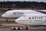 ひこ☆さんが、成田国際空港で撮影したタイ国際航空 A380-841の航空フォト(写真)