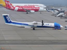 おぎしんさんが、中部国際空港で撮影したANAウイングス DHC-8-402Q Dash 8の航空フォト(写真)