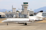 なごやんさんが、名古屋飛行場で撮影したBrenzil (Pty) Ltd Falcon 7Xの航空フォト(写真)