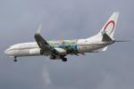 masa707さんが、ロンドン・ヒースロー空港で撮影したロイヤル・エア・モロッコ 737-86Nの航空フォト(写真)