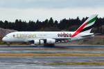 daisuke1228さんが、成田国際空港で撮影したエミレーツ航空 A380-861の航空フォト(写真)
