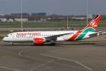 masa707さんが、アムステルダム・スキポール国際空港で撮影したケニア航空 787-8 Dreamlinerの航空フォト(写真)