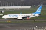 masa707さんが、アムステルダム・スキポール国際空港で撮影したエア・ヨーロッパ 737-85Pの航空フォト(写真)