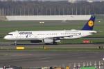 masa707さんが、アムステルダム・スキポール国際空港で撮影したルフトハンザドイツ航空 A321-131の航空フォト(写真)