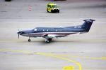 まいけるさんが、ミュンヘン・フランツヨーゼフシュトラウス空港で撮影したオーストリア企業所有 PC-12/45の航空フォト(写真)