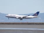 職業旅人さんが、サンフランシスコ国際空港で撮影したユナイテッド航空 747-422の航空フォト(写真)