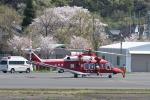 りゅうさんさんが、調布飛行場で撮影した山形県消防防災航空隊 AW139の航空フォト(写真)