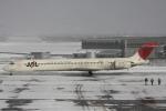 小牛田薫さんが、三沢飛行場で撮影した日本航空 MD-90-30の航空フォト(写真)