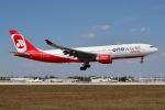 JRF spotterさんが、マイアミ国際空港で撮影したエア・ベルリン A330-223の航空フォト(写真)