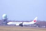 あんとのふさんが、帯広空港で撮影した日本航空 737-846の航空フォト(写真)
