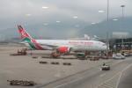 職業旅人さんが、香港国際空港で撮影したケニア航空 787-8 Dreamlinerの航空フォト(写真)