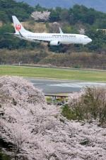 のぶさんさんが、岡山空港で撮影したJALエクスプレス 737-846の航空フォト(写真)