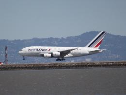 職業旅人さんが、サンフランシスコ国際空港で撮影したエールフランス航空 A380-861の航空フォト(写真)