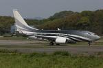 板付蒲鉾さんが、福岡空港で撮影したケイマン諸島企業所有 737-7JW BBJの航空フォト(写真)