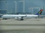 シャリオンさんが、香港国際空港で撮影した南アフリカ航空 A340-313Xの航空フォト(写真)