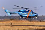 はるかのパパさんが、龍ヶ崎飛行場で撮影した千葉県警察 BK117C-1の航空フォト(写真)