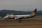 タイ国際航空さんが、熊本空港で撮影したソラシド エア 737-4M0の航空フォト(写真)