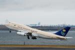 たかしさんが、羽田空港で撮影したサウジアラビア王国政府 747-468の航空フォト(写真)
