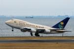 たかしさんが、羽田空港で撮影したサウジアラビア王国政府 747SP-68の航空フォト(写真)
