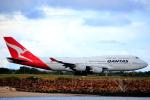 空飛ぶティラミスさんが、シドニー国際空港で撮影したカンタス航空 747-438の航空フォト(写真)