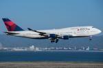 KIX Spotterさんが、関西国際空港で撮影したデルタ航空 747-451の航空フォト(写真)