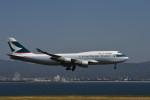 we love kixさんが、関西国際空港で撮影したキャセイパシフィック航空 747-412(BCF)の航空フォト(写真)